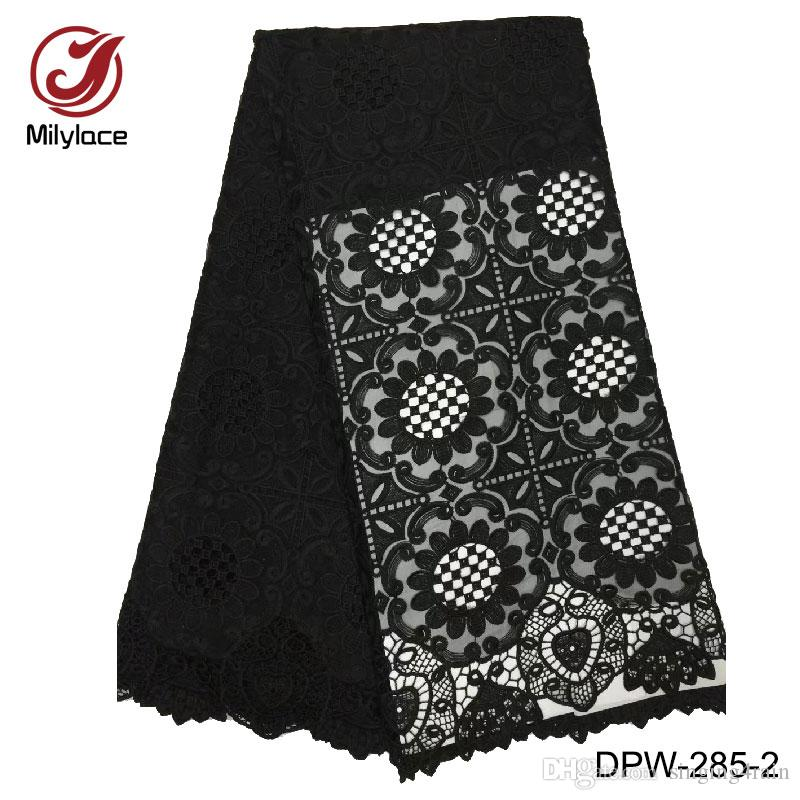 New coming nigerian french lace material embrodiery tulle lace fabric african solid color design party lace fabric DPW-285