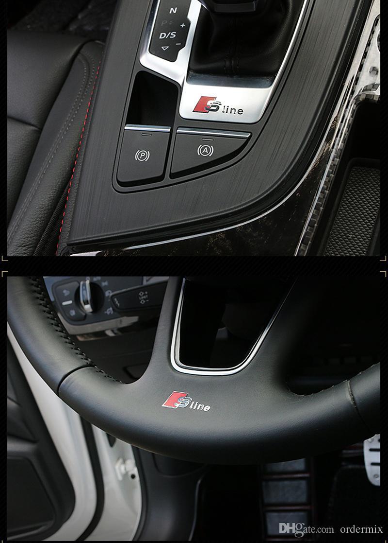 2 pz S Line 3D alluminio sline Adesivo porte e finestre autoadesivo interno dell'auto audi A1 A3 A4 A5 A6 A7 A8 Q1 Q3 Q5 Q7 Car styling