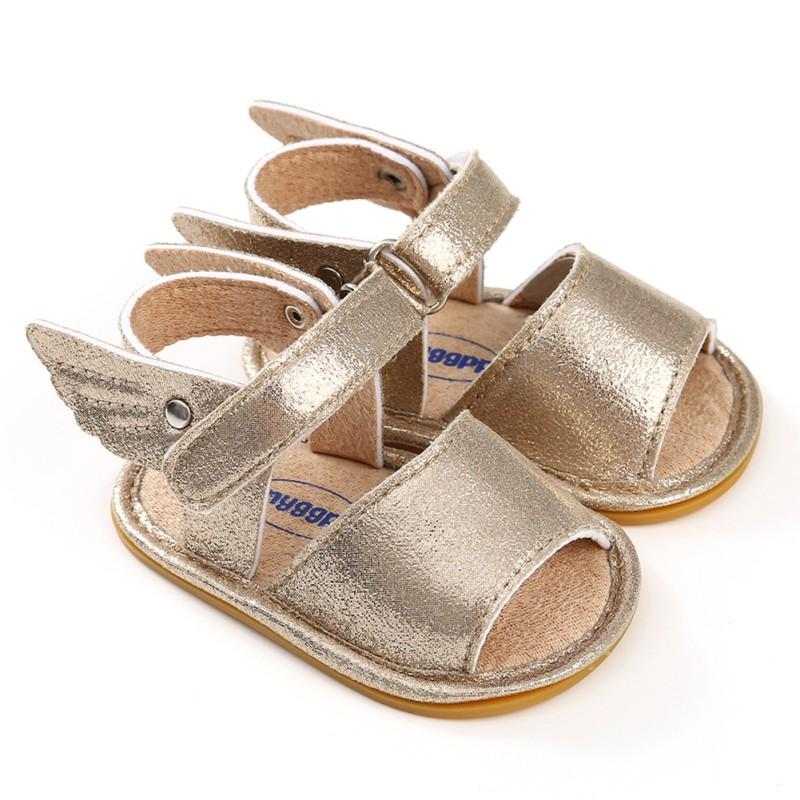 483965a4ac378 Summer Baby Sandal Boys Girls Shoes Solid Wing Fashion Shoes Newborn Infant  Toddler Soft Rubber Sole Beach Prewalkers