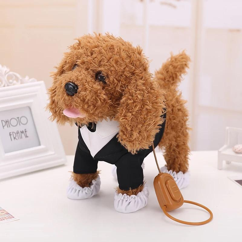Children Holiday Birthday Gifts Action Figure Electronic Pets Robot Dog Toys Bark Stand Walk Teddy Dogs Brinquedos Plsuh Best Cat Door Furby