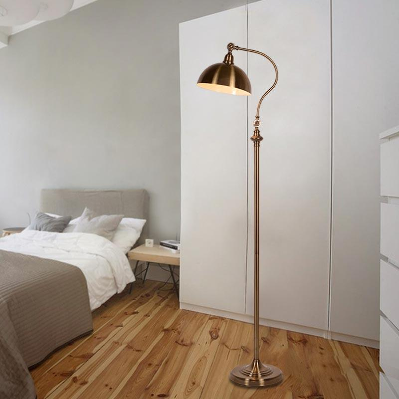 Best quality classic floor lamp modern office desk bedroom best quality classic floor lamp modern office desk bedroom adjustable direction standing lamp copper color home lighting at cheap price online floor lamps audiocablefo
