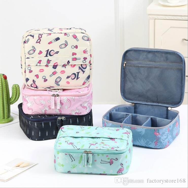 1f7ea1877ddb9b NEW Floral Printing Cosmetic Bag Organizer Large Capacity Travel ...