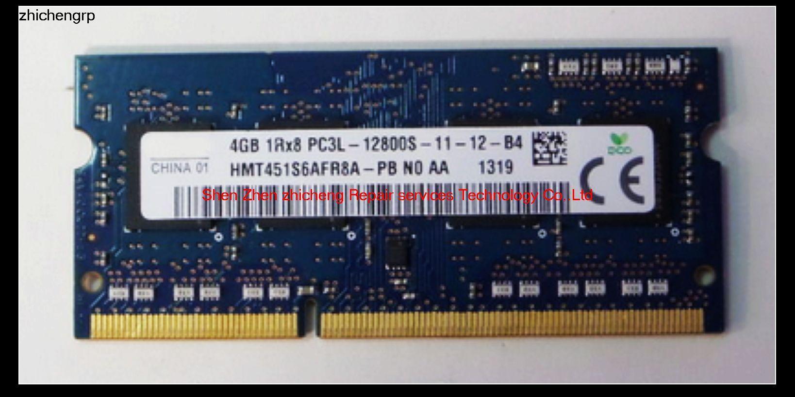 SZZC For Laptop 1 5V Voltage 4GB 2Rx8 PC3-12800 DDR3 1 35V Voltage 4GB 1Rx8  PC3L-12800S 1600MHz Non-ECC SO-DIMM RAM