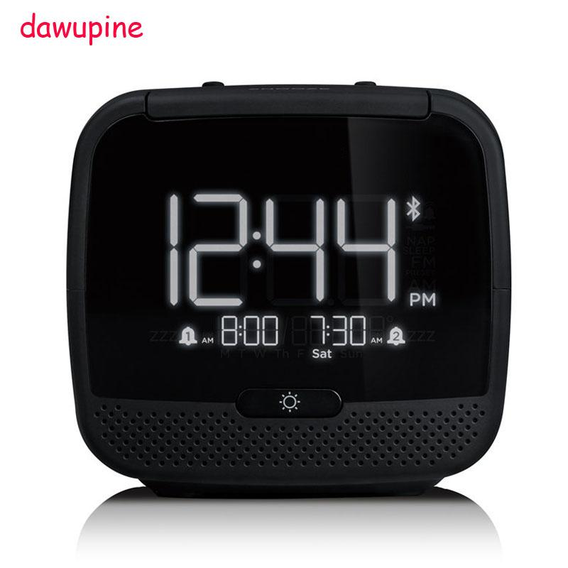 6ce8fa0a70e Dawupine Music Alarm Clock Bluetooth Speaker Night Light Control FM Radio  Bed Bound Temperature Date Week MP3 Player USB Charger Radios Radio From  Lentil
