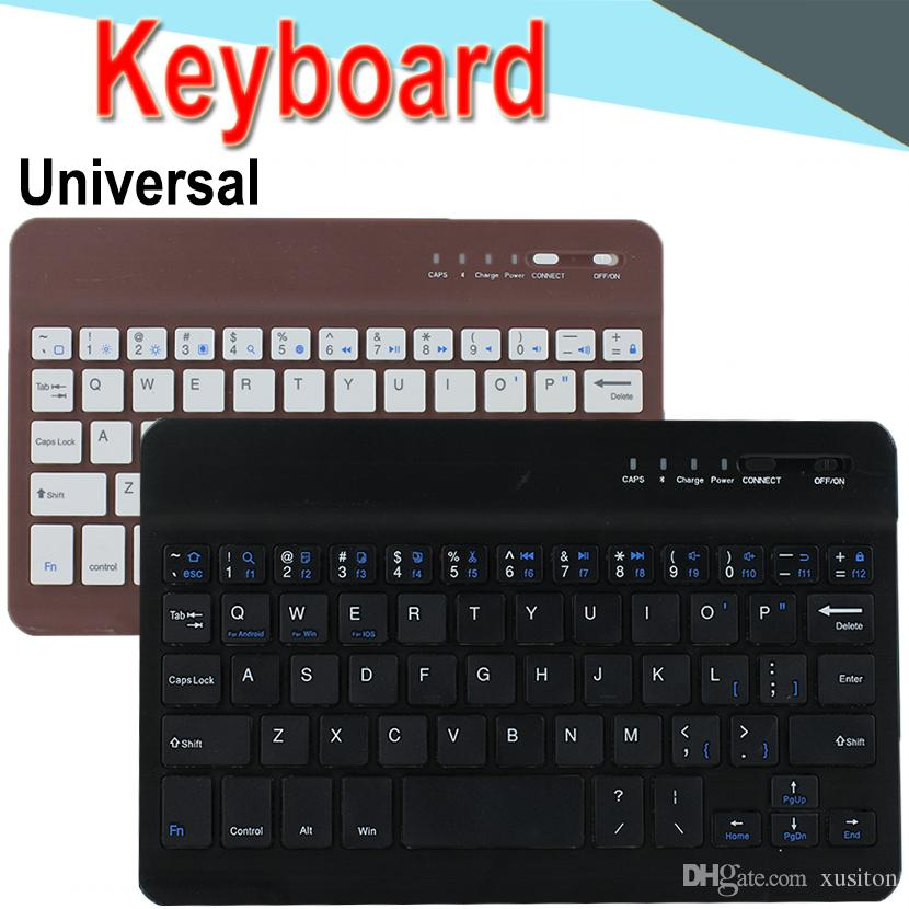 7 10inch Mini Bluetooth Keyboard Universal long-lasting Battery Ultra-thin  Bluetooth Keyboard for PC iPad Laptop Android Windows XPT6-9