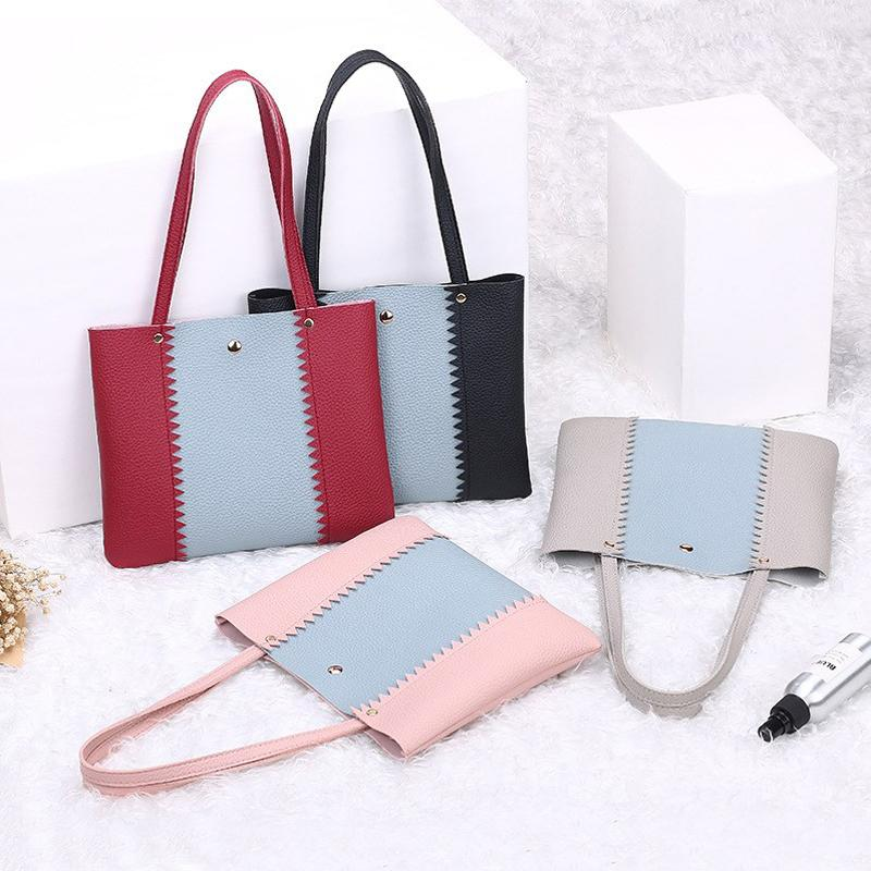 cbf42fe7bb1 UKQLING Small Shopping Bag Casual Wome Leather Handbag PU Material Small  Tote Purse Handbag Cheap Women Bag Drop Shipping Women Bag Bag Casual Cheap  Women ...