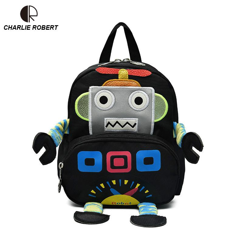 94f9cba0e3 Cute Robot Children Backpack For 1 3 Years Kindergarten Boys Girls Cartoon Robot  Toddler Backpack Y18100805 Best Laptop Backpack Backpack With Wheels From  ...