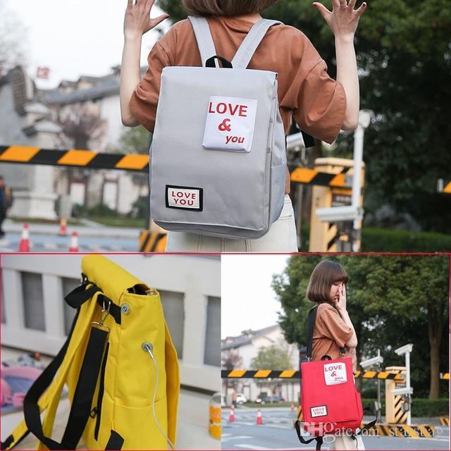 31eeddd8f6 High Quality Fashion Backpack Letter Print Women Backpack For School  Teenagers Girls Stylish School Bag Ladies Canvas Backpack Female Q 179 Backpacks  For ...