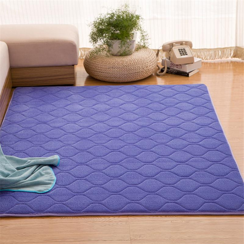 Kid Play Solid Carpet Memory Foam Rug Grid Mat Hallway Area Rug Warm