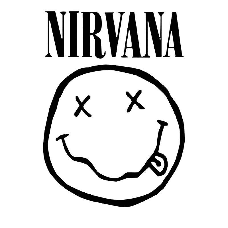Satın Al Gülen Yüz Nirvana Ev Duvar Cam Pencere Sticker Dizüstü