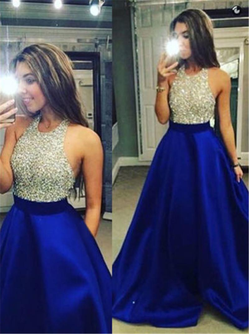 7f47283bfc Sexy Women Off Shoulder Halter Sequins Long Maxi Dress Patchwork Backless  Shiny Formal Prom Party Dress Ball Gown Summer Dresses