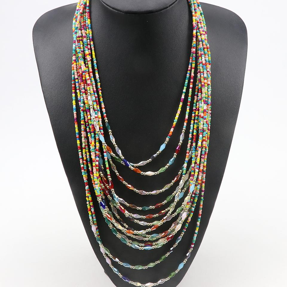 Wholesale 2018 New Long Causal Multi Layers Crystal Beads Bohemia Chains  Necklaces For Women Pendants Necklaces Fashion Jewelry For Girls Chain  Necklace ... 404e4b9aa351