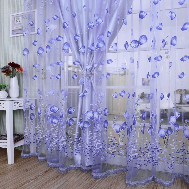 Modern Tulle Curtains For Living Room Purple Curtains For Children Bedroom  Door Short Kitchen Window Kids Drape 971153