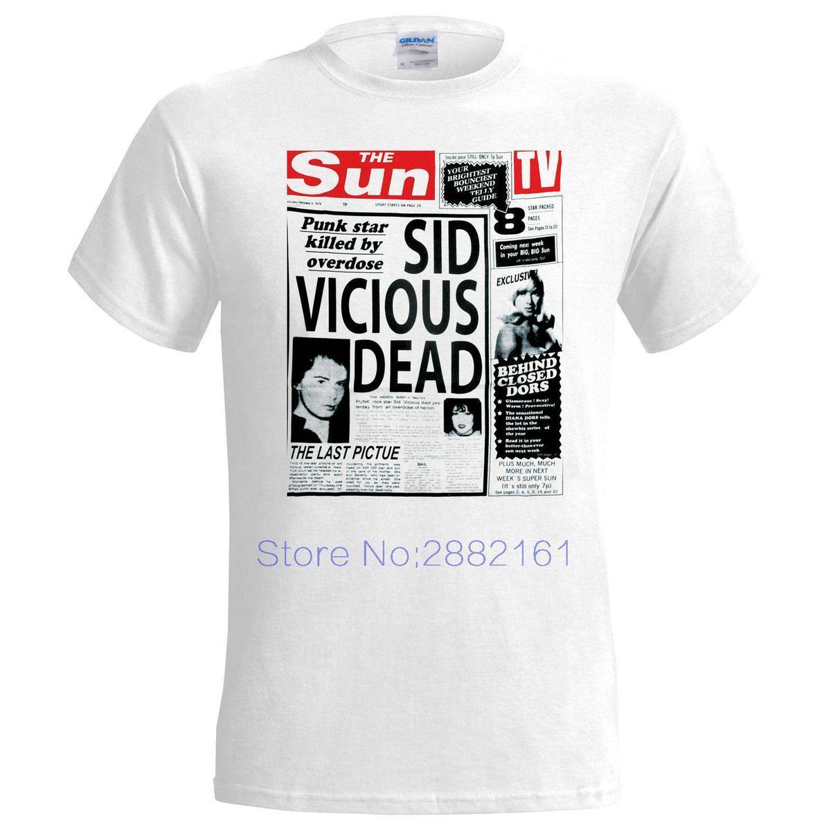 Punk Acquista Headline 2017 Fashion Dead Vicious Maglietta Uomo Sid 54LARj3