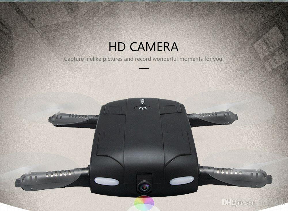H37 drone Pocket Folding Portable Drone with HD Camera 6-Axis Gyroscope Auto Height Hold / Headless Mode Cell Phone Control RC UAV Rotor