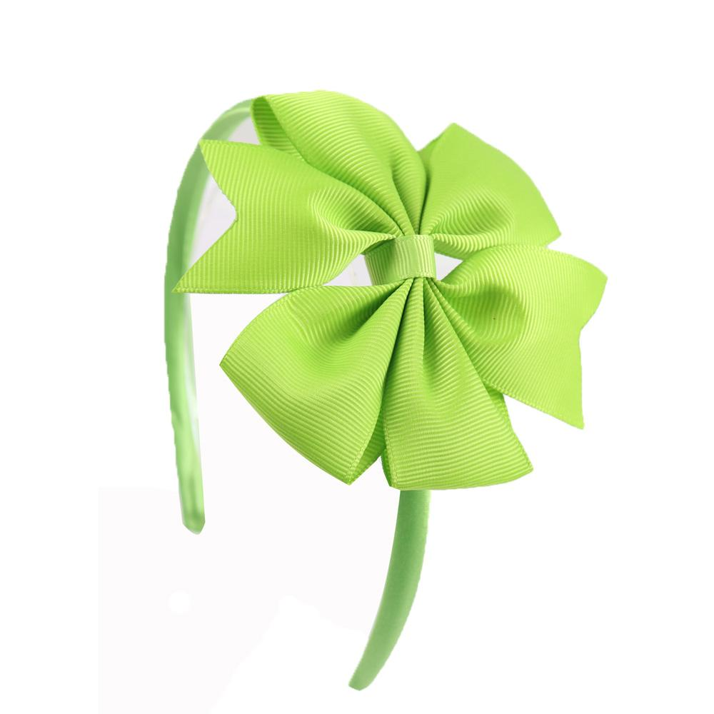 4'' Solid Ribbon Pinwheel Bowknot Headbands for Kids Girls Handmade Hairband Candy Colors Hair Accessories
