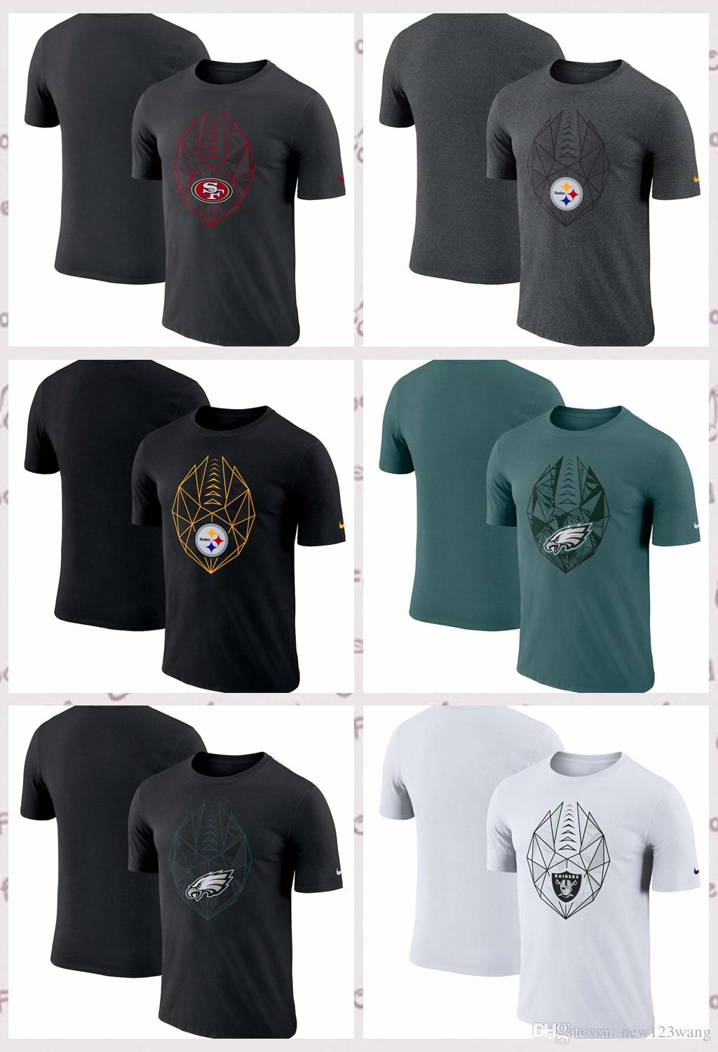 eb7577d63 2019 San Francisco 49ers Oakland Raiders Pittsburgh Steelers Philadelphia  Eagles Fan Gear Icon Performance T Shirt From Hoodiesno2, $17.43 |  DHgate.Com