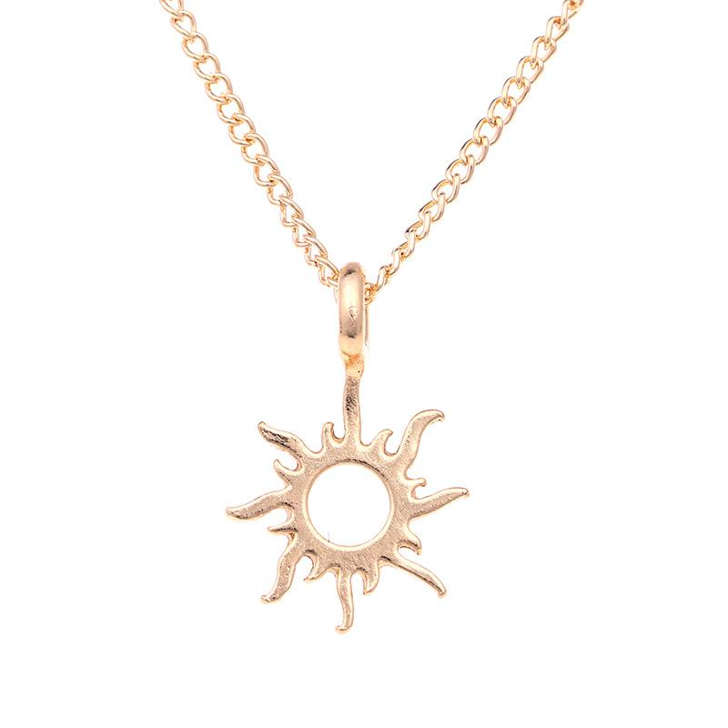 0ce6dbcff12572 2019 Fashion Gold Color Good Vibes Only Sun Necklaces & Pendants For Women  Jewelry From Super088, $0.57 | DHgate.Com