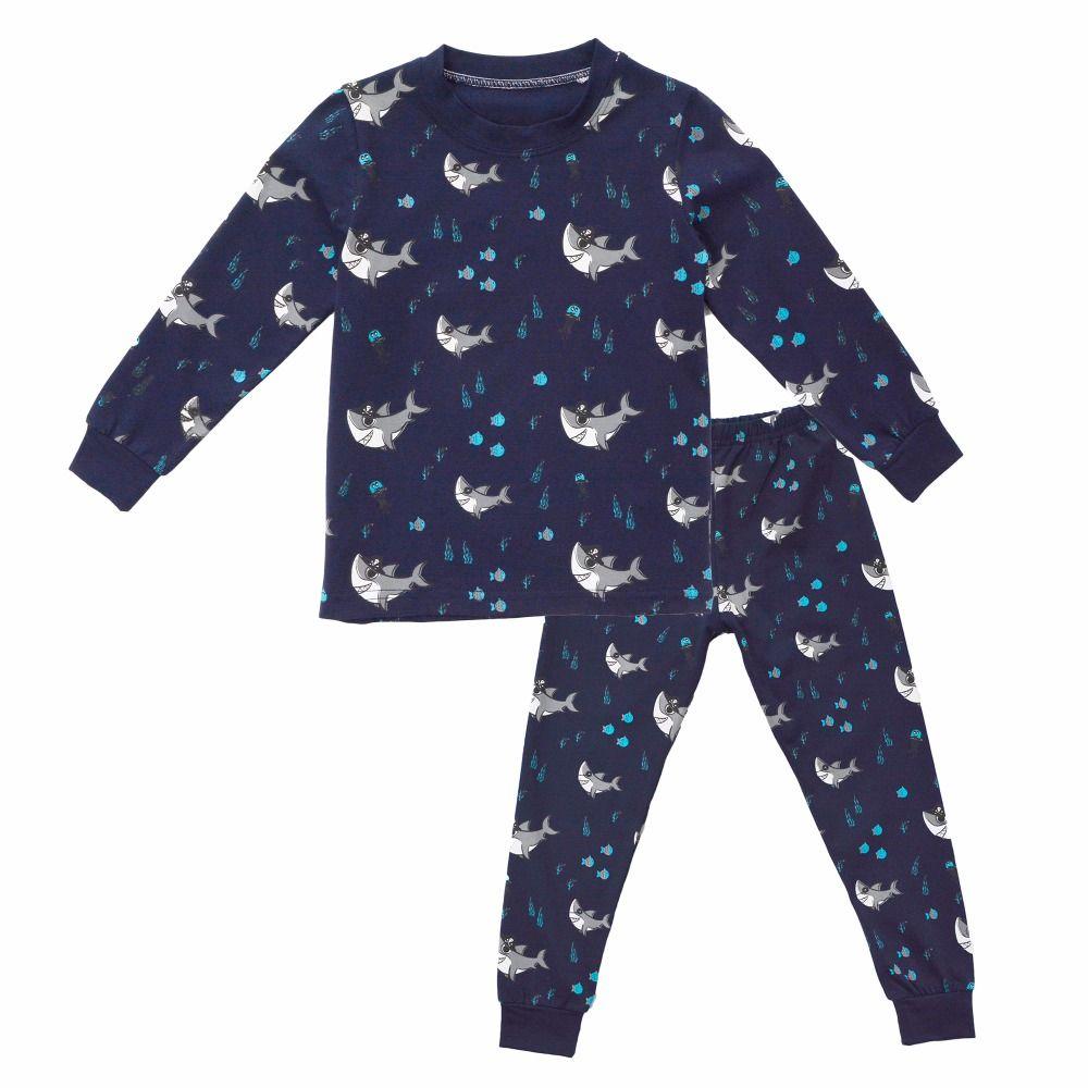 Biniduckling Spring Autumn Baby Clothes Baby Clothing Sets Shark Printing T  Shirts +Pants Pajama Sets S Sleepwear Pajama Sets Boys Christmas Pajamas  Kids ... c9ee2f190