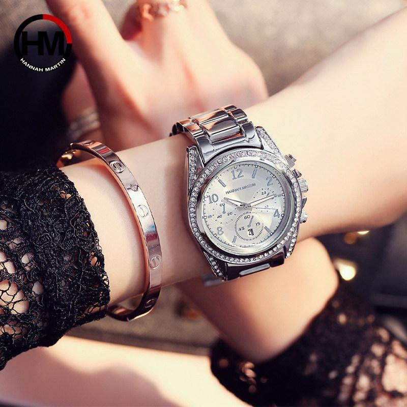 Watch for lady women business MK watch steel calendar Discount night party high quality Rose Golden