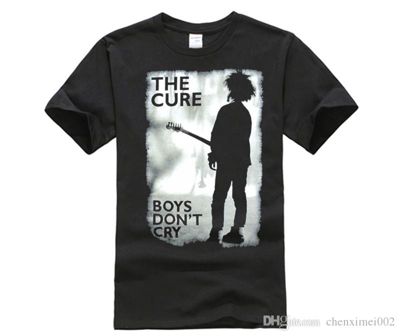 4dc764bdb The Cure Boys Don't Cry Grey Image Black T Shirt New Official Band Print  Casual T-Shirt Men Brand Adult T-Shirt