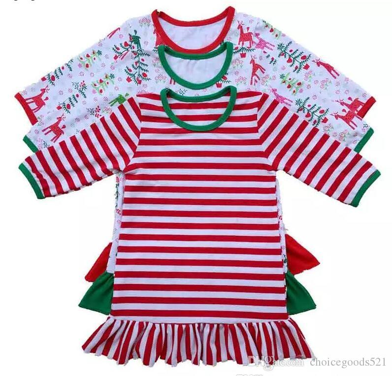 37940f642d Kids Pajamas Christmas Clothes Girls Pajamas One Piece Red Green Pyjamas  Sleepwear Baby Dress Cotton Pijama Pjs Nightwear Xmas Pajamas For Kids Kids  Pjs On ...