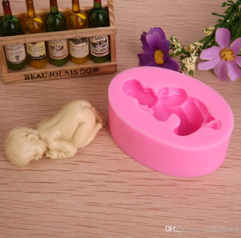 3D Sleep Baby Handmade Soap Mold Chocolate Cake Moulds Cake Decorating Tools DIY Cookies Fondant Silicone Mold