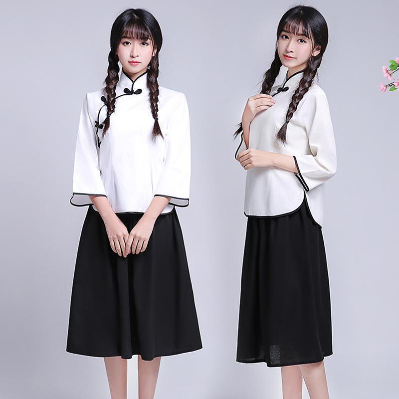 competitive price fe0ab 30b0e Abbigliamento nazionale giovane ragazza Cosplay Abbigliamento cinese degli  anni 30 Abbigliamento donna Abbigliamento universitario Abbigliamento da ...