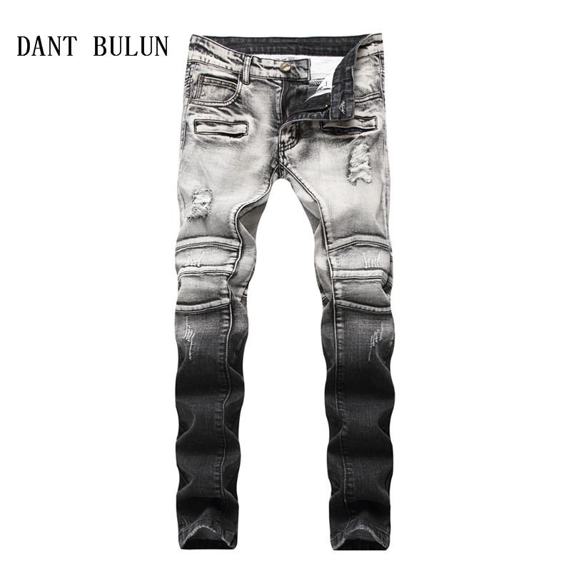 Jeans Ripped Dant Con Patchwork Comprar Bulun Cremallera 0kOPwnX8