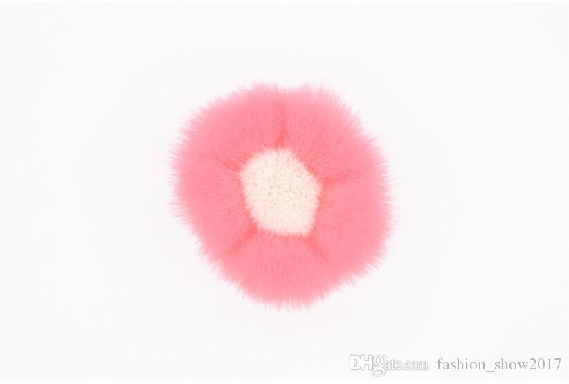 New Lovely Excellent 핑크 플라워 페이스 싱글 브러쉬 가부키 블러쉬 파우더 브러쉬 코스메틱 볼 메이크업 브러쉬