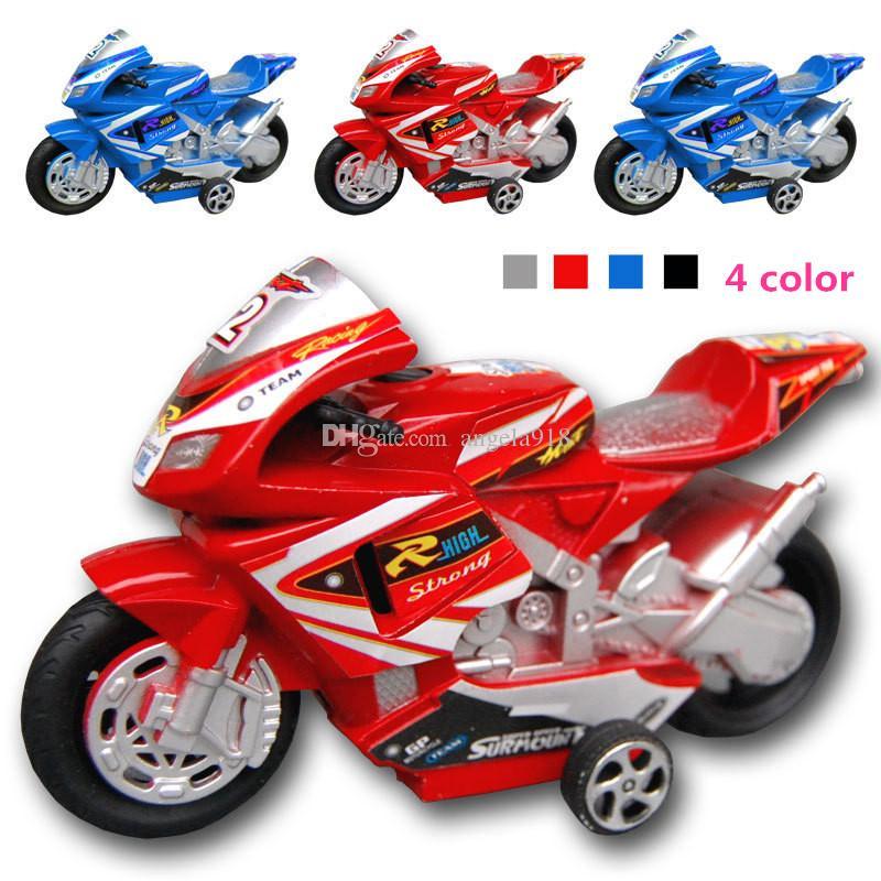 Bello mini auto giocattolo del giocattolo della raccolta del giocattolo del modello di tirata indietro dei bambini, giocattolo a due ruote del motociclo trasporto libero H046