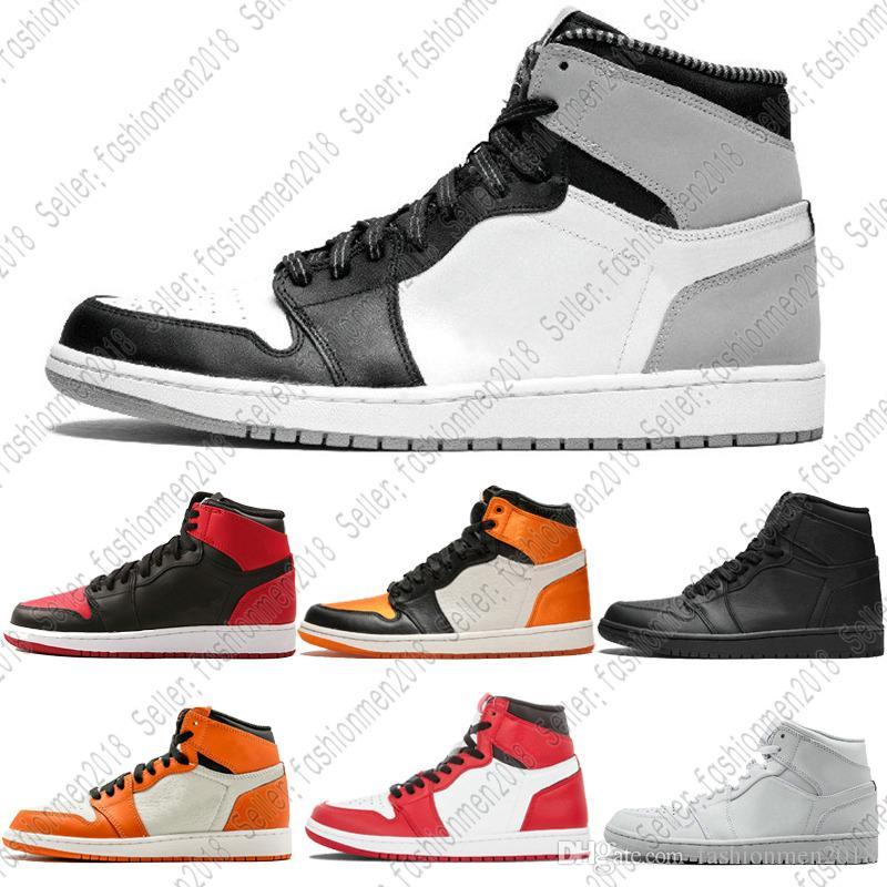 cheap for discount 626c0 011db Compre Nike Air Max Jordan Barato 1 Top 3 Banned Bred Toe Chicago Og 1s  Juego Royal Blue Zapatos De Baloncesto Para Hombre Zapatillas Shattered  Backboard ...