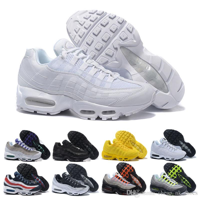 Cheap Sale 95 95s Men Running Shoes Triple White Black Grape Solar Red Neon  Trainer Sports Shoes Outdoor Jogging Casual Sneaker Size 40 45 Best Running  Shoe ... 4d65468fb