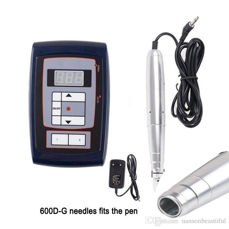 Toptan 600D-G 3RL veya 3RS Nouveau Kalıcı Makyaj iğneler Nouveau Kalıcı makyaj makinesi Pen İçin Kaş Dudak iğneleri 7mm