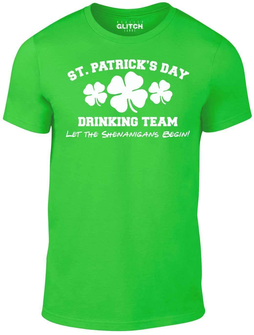 4e9c6265 Men's St. Patrick's Day Drinking Team T-Shirt - gift funny Ireland joke  Irish