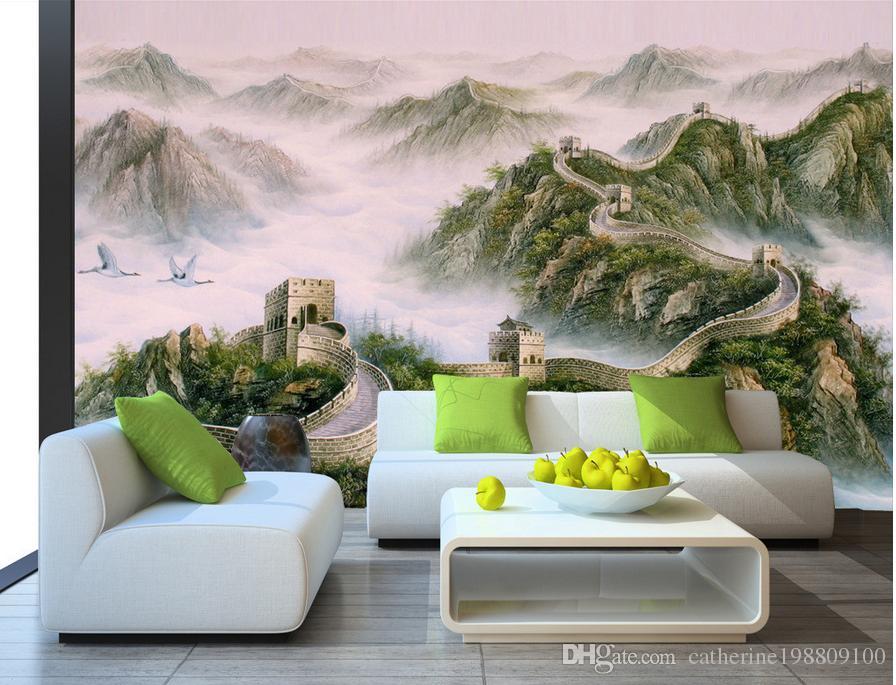 3D Wallpaper Custom Wall Mural Pintura del arte moderno de alta calidad Mural Wallpaper Wanli Great Wall Large Chinese Classical 3d Mural Wallpaper