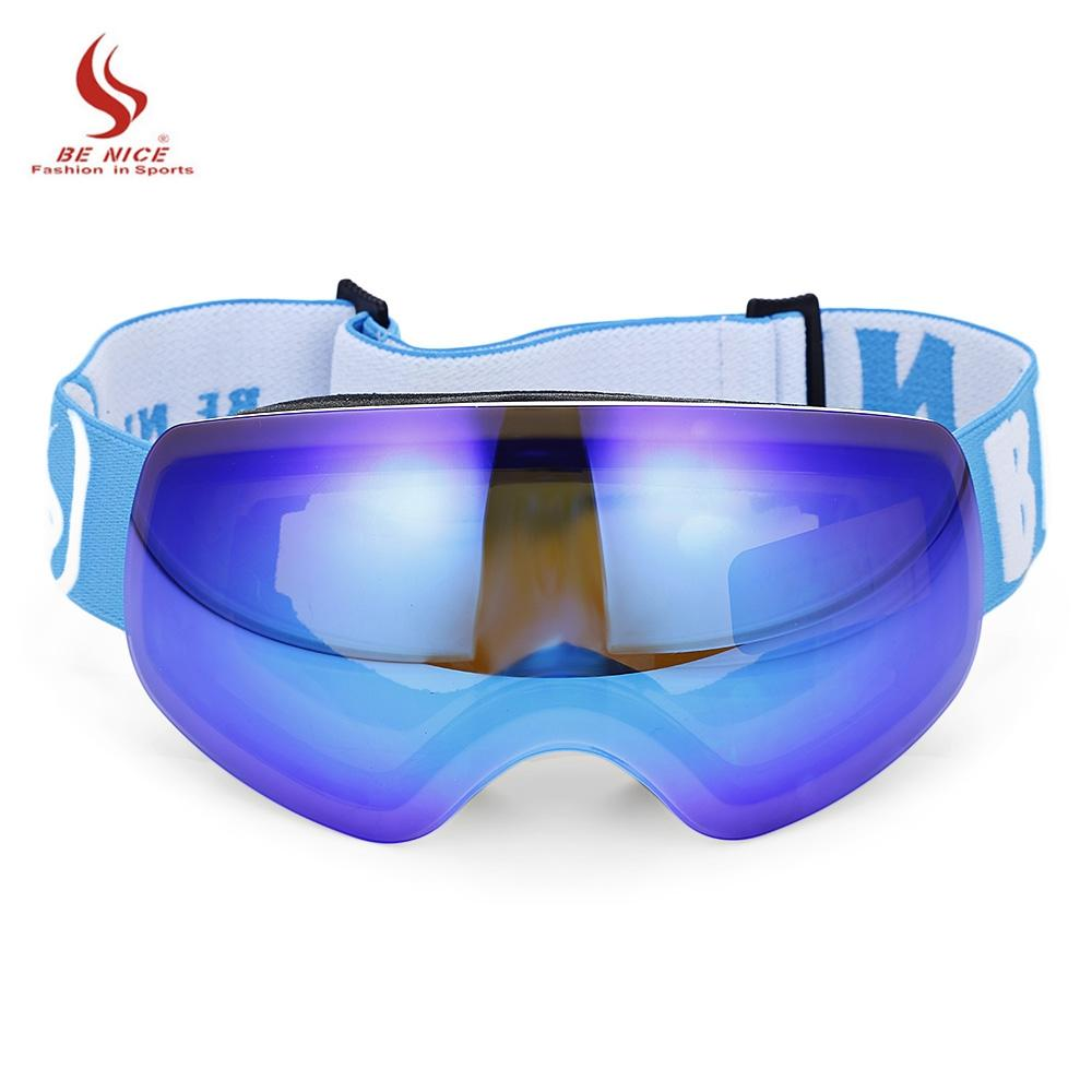 3a00659eef2 BENICE Kid Ski Goggles Glasses Child Spherical Anti-Fog Double Lens ...