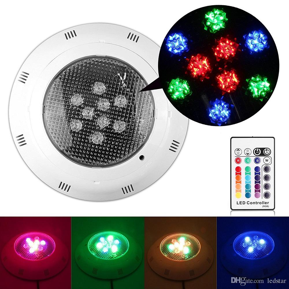 9W RGB Led Swimming Pool Light Bulb AC 12V Underwater Lights Fountains Led 18W 25W 40W Waterproof IP68 Led Pool Light + Remote Control