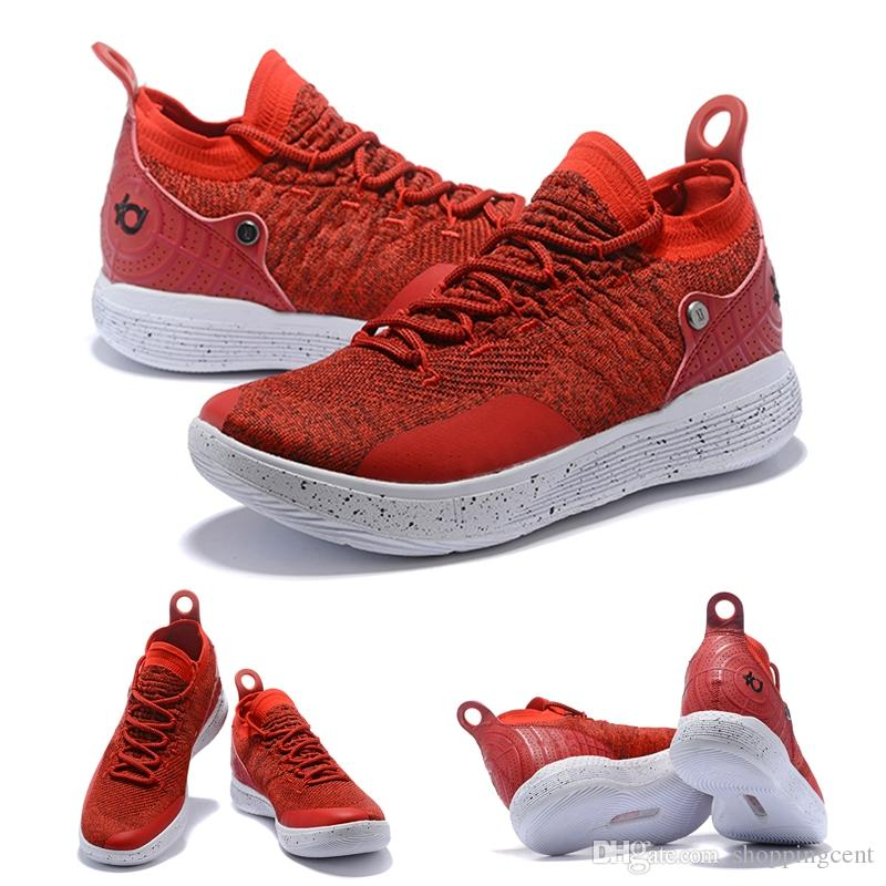 Best Quality KD 11 Basketball Sneakers Mens Kevin Durant 11s Rose Blue  Chinese Red Basketball Training Shoes Zoom Cushion Breathable Shoe Shoes On  Sale ...