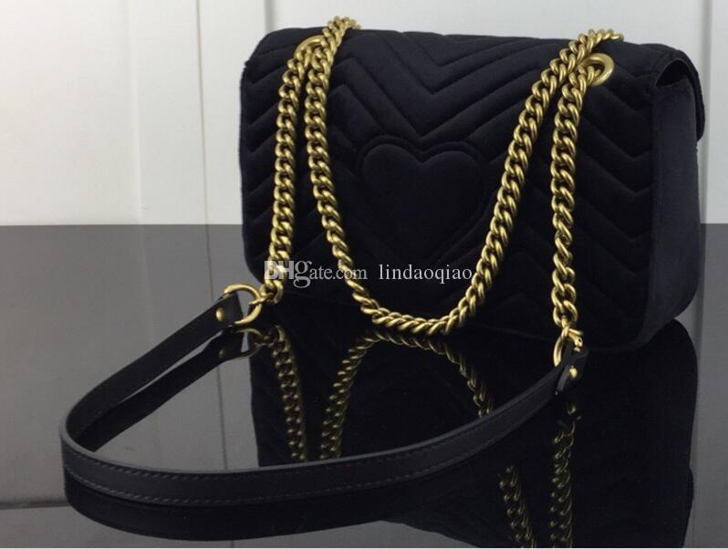 4476bf11f4c1 2019 New Designer Women Handbag High Quality Real Leather Womens Handbags  Brand Women Purse Chain Shoulder Bag Marmont Purse Marmont Bag Marmont Purse  Woman ...