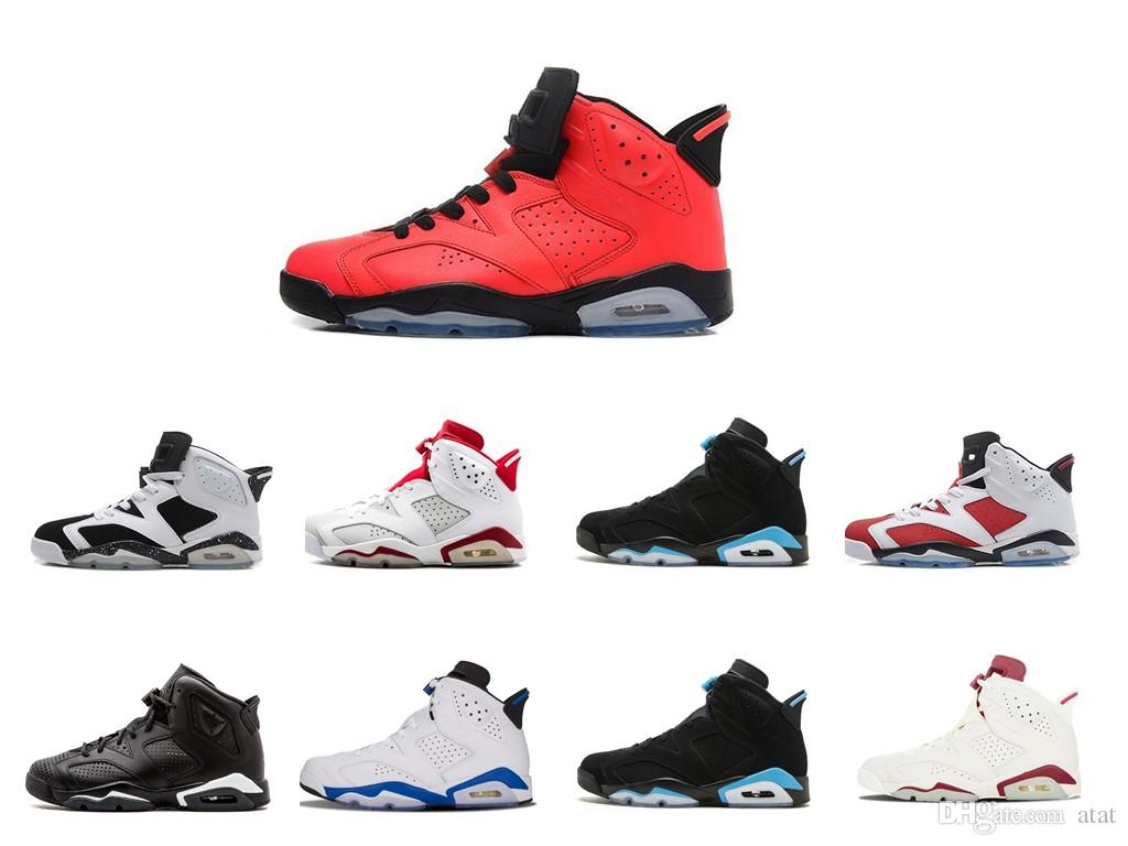 db0a48c7ca9da5 New Arrival 6 6s Mens Basketball Shoes Man Unc Black Cat Infrared Sports  Blue Maroon Olympic Alternate Hare Oreo Angry Bull Sports Sneakers Shoes  Canada ...