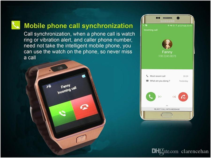 GZDL Bluetooth Smart Watch Upgraded DZ09 Smartwatch Watch Phone Support SIM TF Card with Camera for Android IOS iPhone Samsung LG Phones