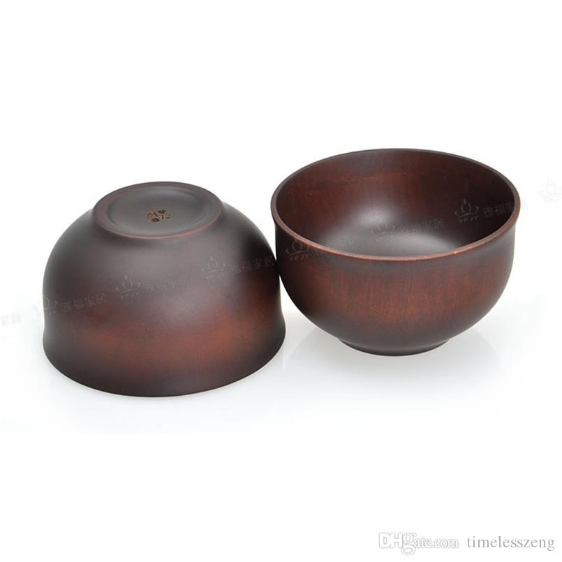 12.5 * 7.5 cm stile giapponese ciotola di legno ciotola di noodle legno castagne contenitori alimenti ciotole cassaforte zuppa ciotola bello articoli la tavola nave libera