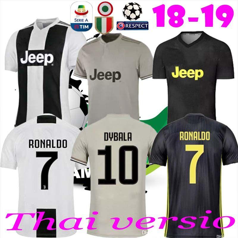 8c33004da7d Thailand RONALDO Juventus 2019 Soccer Jerseys DYBALA 18 19 Thailand ...