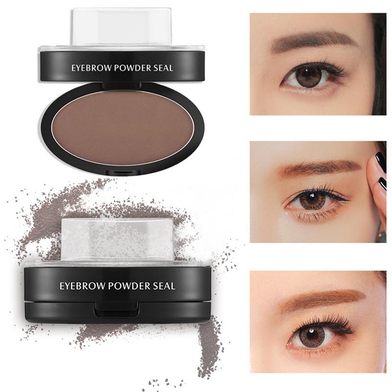 Eyebrow Powder Seal Shadow Set Waterproof Stamp Straight Curved Shape Brow Palette Stamper Elf Makeup Eyelashes From Huangcen
