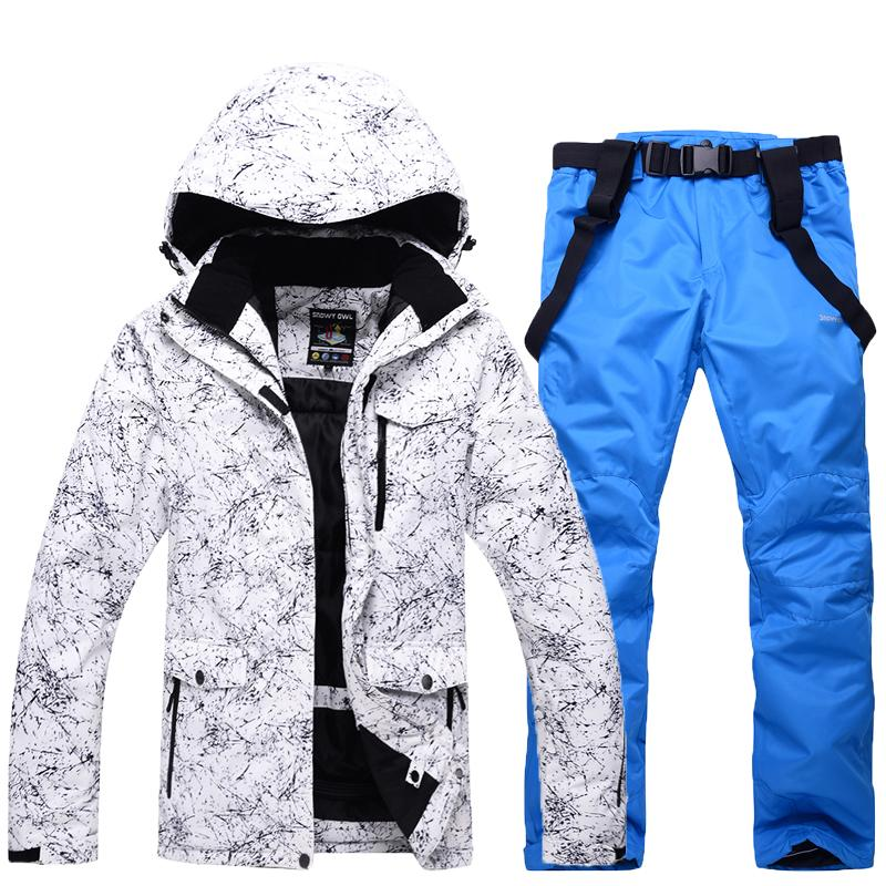 2810be7412 New Winter Ski Suit Men Women Outdoor Thermal Windproof Snowboard Jackets  Pants Climbing Snow Skiing Clothes Set Send Russia UK 2019 From Pekoe