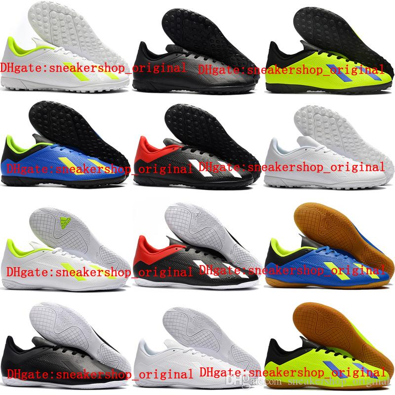sale retailer 4acb3 d6171 2018 mens original soccer cleats X Tango 18.4 TF IC indoor soccer shoes  turf football boots high quality scarpe calcio cheap