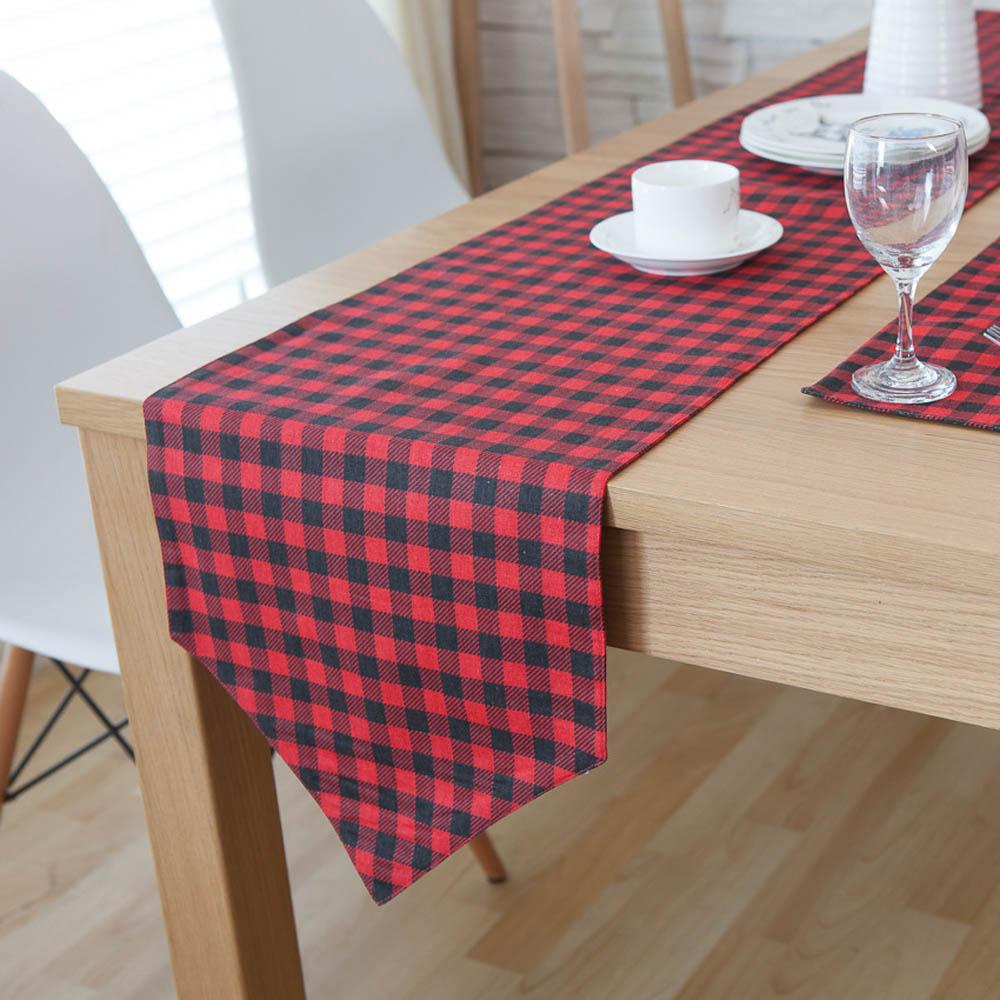 Scotland Style Red Black Plaid Multi Size Rectangle Coffee Table Linen  Runners Home Decorative Cotton Table Runner Table Cloth Runners Table Linen  From ...