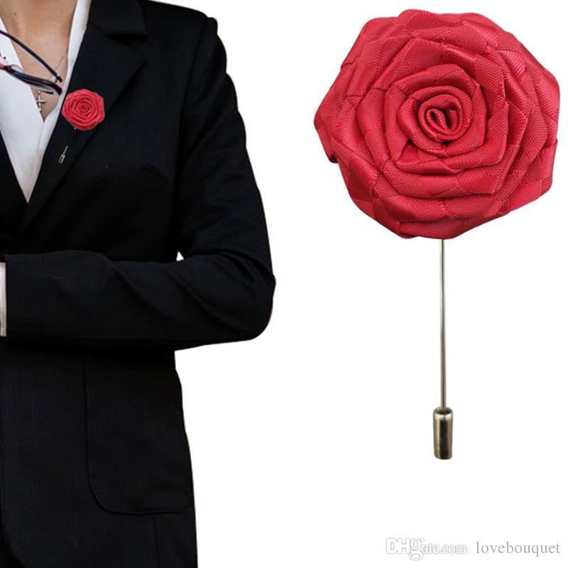 Acheter Simulation Fleur Pour Mariage Boutonniere Costume Pour