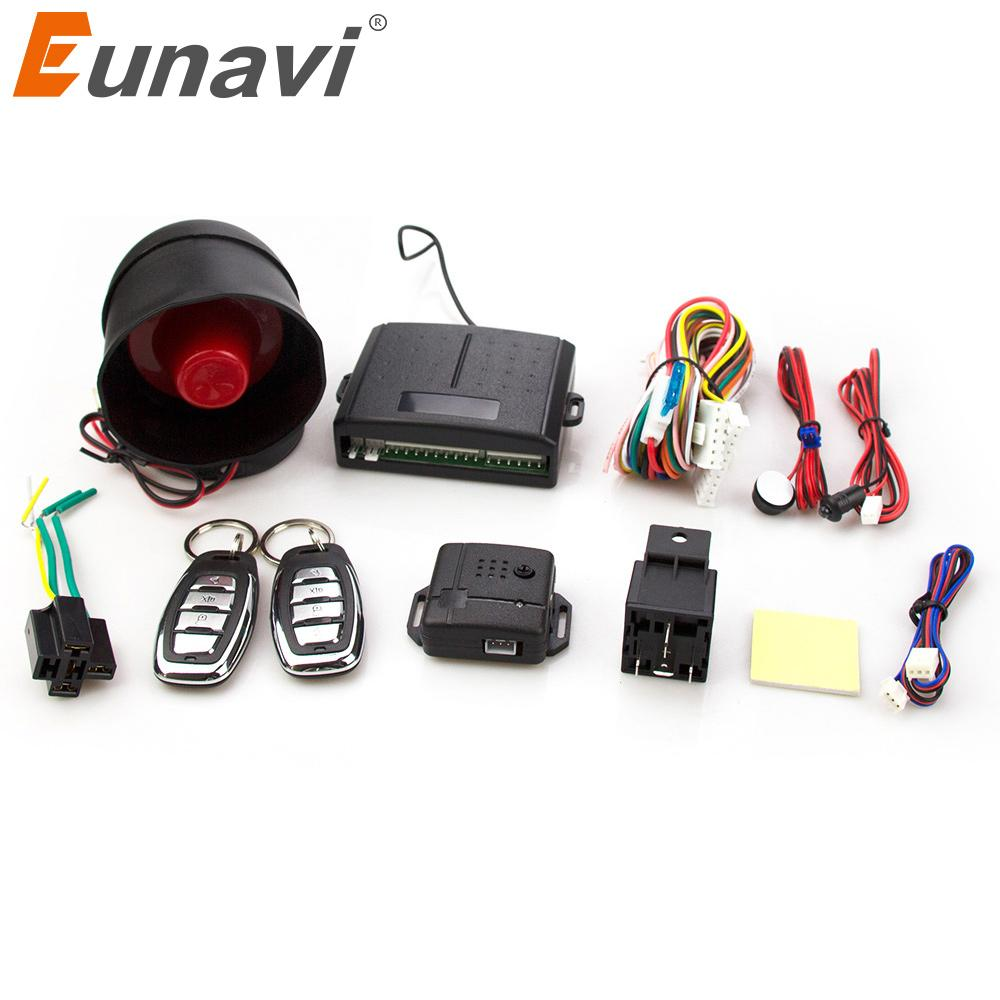 One Way Auto >> Eunavi 102 One Way Auto Car Alarm Systems Central Door Locking Security Key With Remote Control Siren Sensor For